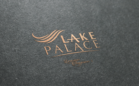 Lake palace logo mock-up