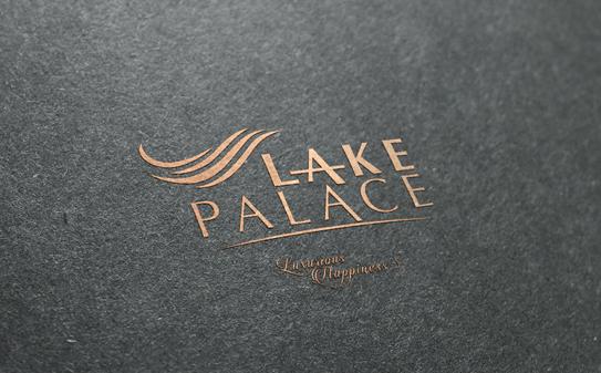 Lake palace logo mock-up
